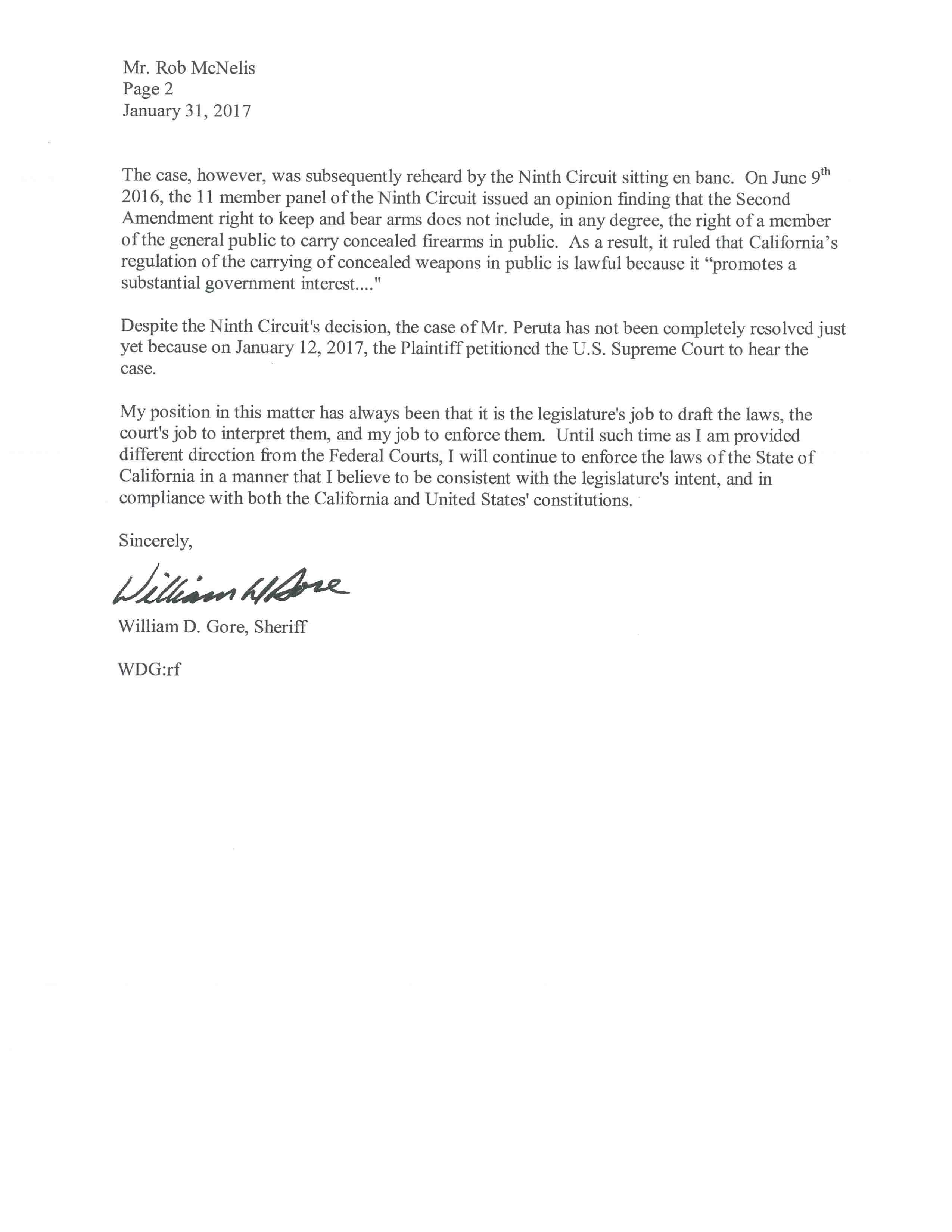 Gore to McNelis Letter #2-2