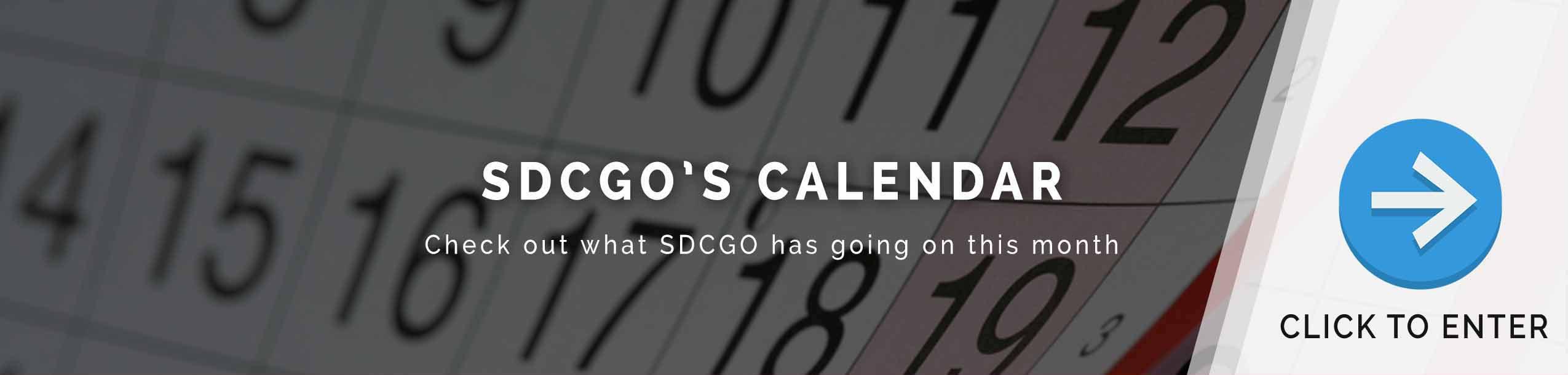 SDCGO Calendar