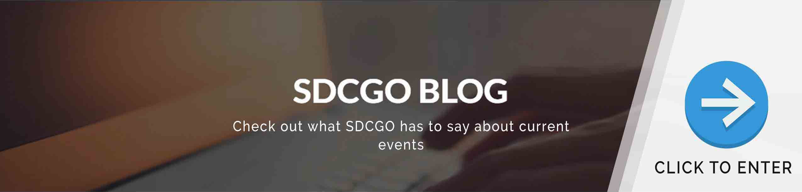SDCGO Blog