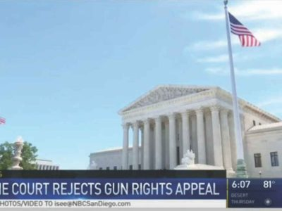 Supreme Court Refuses Gun Law Appeal