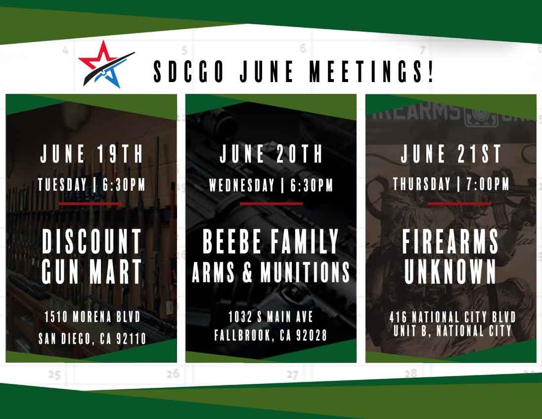 June Meetings for sdcgo