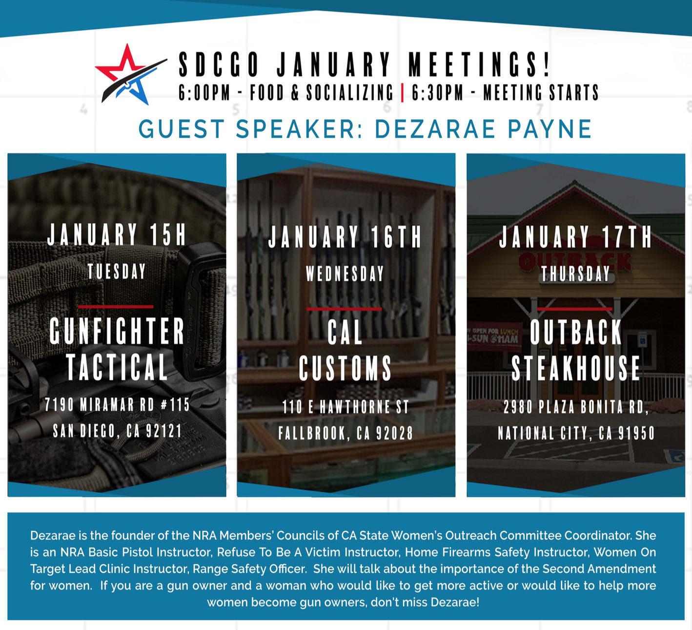 SDCGO_January Meeting