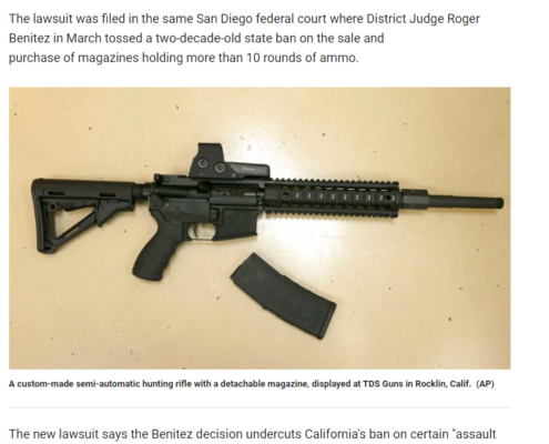Fox News: California gun rights group look to overturn state ban on assault weapons