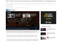 7 San Diego: San Diego City Council Approves 'Safe Storage' Gun Regulations