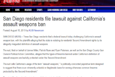 KUSI: San Diego residents file lawsuit against California's assault weapons ban