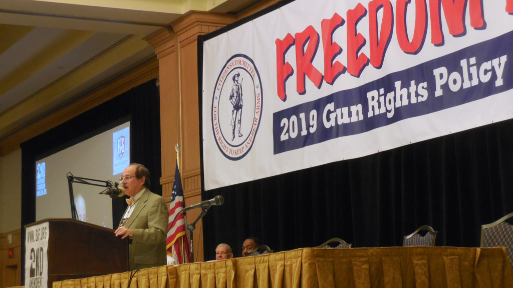 Alan M. Gottlieb, founder of Second Amendment Foundation addresses Gun Rights Policy Conference 2019 on the state of the 2nd Amendment fight.