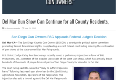 Oside News: Del Mar Gun Show Can Continue for all County Residents
