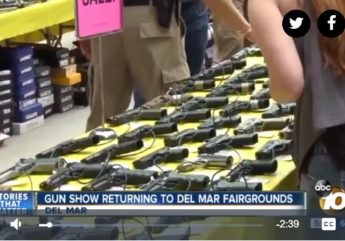 Channel 10 News: Return of Del Mar gun show sparks debate