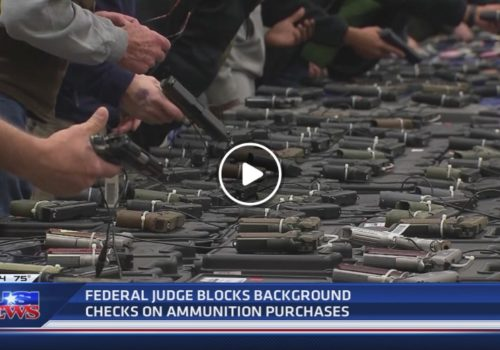 KUSI News: Federal Judge blocks background check on ammunition purchases